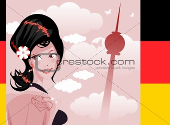 Cute woman country series - Germany