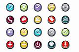Vector 3d Pressed Multimedia Icons