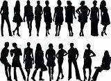 girl collection - vector