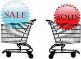 sale - sold illustration - vector  - vector