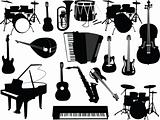Musical instruments collection - vector