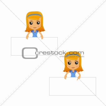 set of funny cartoon housewife in various poses for use in presentations, etc.
