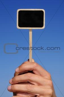 blank blackboard label