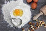 Egg and flour for baking cookies