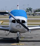 Light propeller airplane