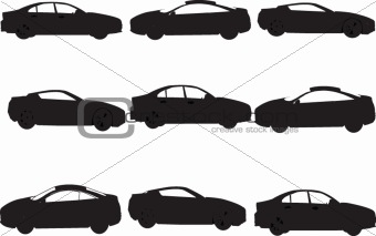 Car silhouette collection