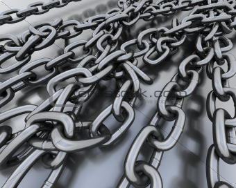 Background of steel chains