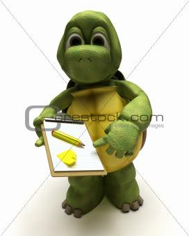 tortoise delivering a parcel