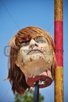 fake severed head