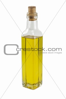 A bottle of oil isolated on white background