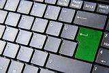 Keyboard with a green enter key