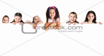 Grouop of smily kids