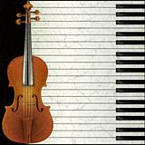 abstract music background with violin and piano