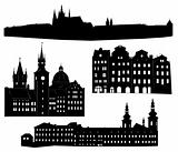 Silhouette of Prague