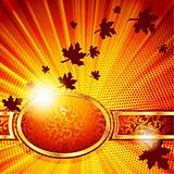 Elegant autumn banner. Includes Transparencies
