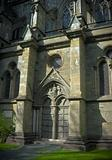 Gothic entrance cathedral