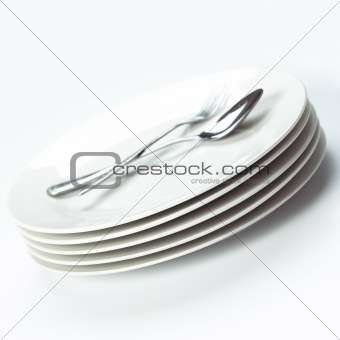 stack of dining plates