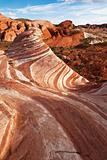 Red Sandstone Rock Formation In Mojave Desert Nevada