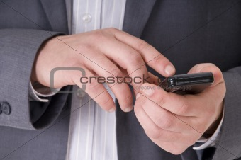Cell Phone in businessman hands