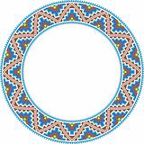 vector folk round Frame Cross-stitch