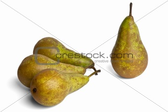 four pears conference on a white background