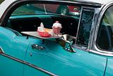 hamburger drive in classic car