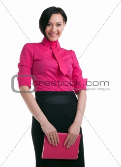 Attractive business woman stand and smile