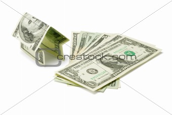 Money house and US dollars