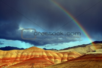 Rainbow over Painted Hills