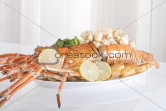 prawns and lobster