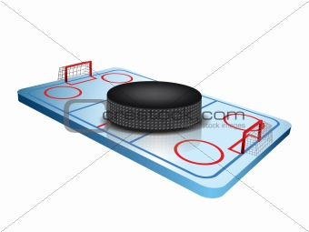 3d Hockey field vector