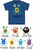 monster print for children's clothes