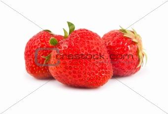 Three ripe strawberry