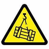 Suspended Load Hazard Sign