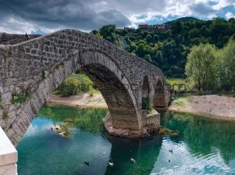 Ancient bricked bridge