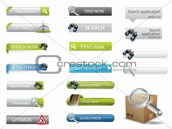 Search buttons for website search