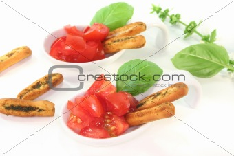 Grissini with Tomato and Basil