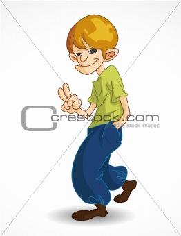 cartoon young man icon