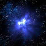 exploding nova in space
