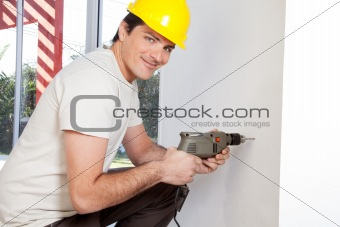 Portrait of smiling man worker