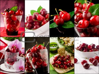 Cherry collage