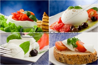 Tomato Mozzarella Collage
