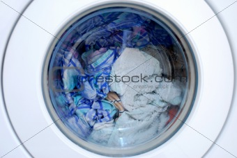 Clothing in washing machine