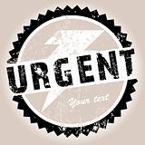 Grunge stamp with Urgent