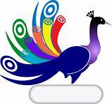 peacock shape