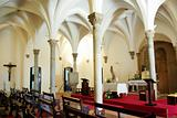 Interior of Mertola church, Portugal.