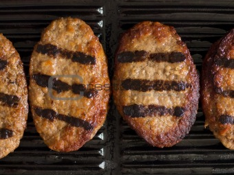 grilled beef patties