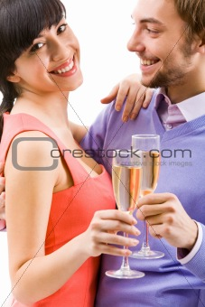 Celebrating couple