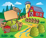 Country scene with red barn 5