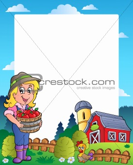 Country scene with red barn 6